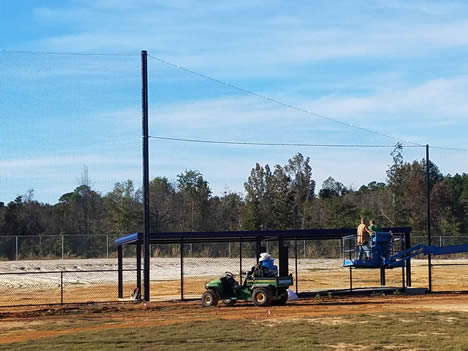 installing batting cage nets