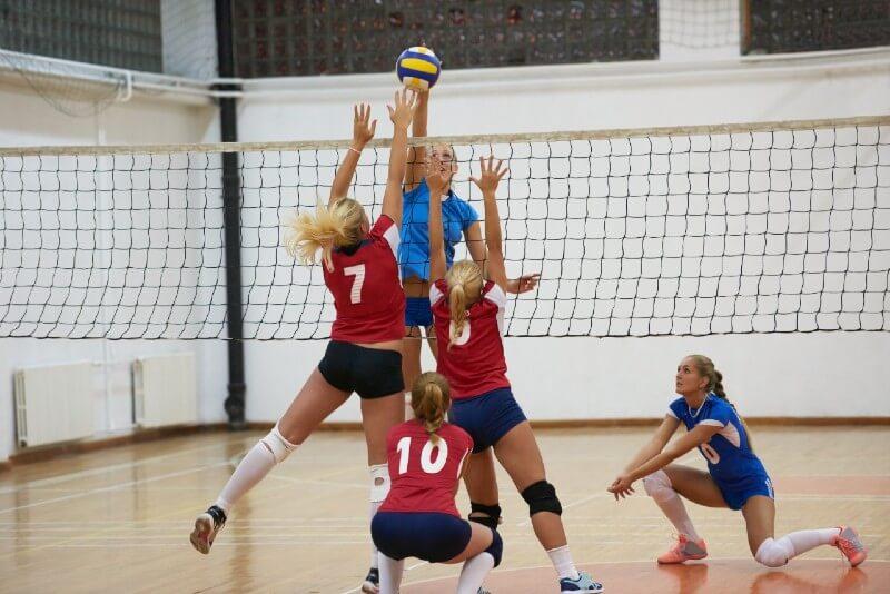 high school volleyball netting
